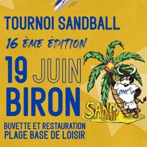 Tournoi de Sandball du O.H.C à Biron le 19 Juin 2021