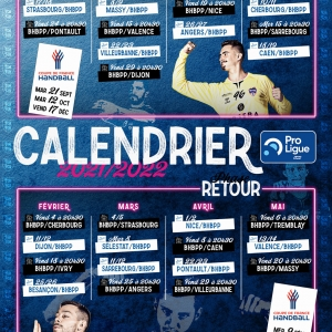 Calendrier du Billère Handball Pau Pyrénées – Saison 2021-2022