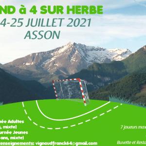 Hand à 4 sur herbe le 24-25 Juillet 2021 à Asson