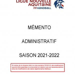 Memento Administratif 2021-2022